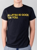 MANTO T-SHIRT GOOD FOR YOU czarny