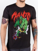 MANTO T-SHIRT MONSTER czarny