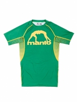 MANTO SHORT SLEEVE RASHGUARD LOGO ZIELONY