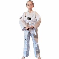 DOBOK TUSAH EASY- FIT SPARRING UNIFORM Z BIAŁĄ PLISĄ - WTF APPROVED