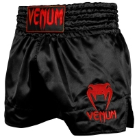 VENUM SPODENKI MUAY THAI CLASSIC BLACK/RED