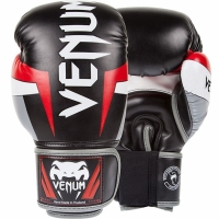 VENUM ELITE BLACK/RED/GREY RĘKAWICE SPARINGOWE