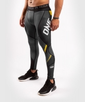 LEGGINSY TRENINGOWE VENUM ONE FC IMPACT - GREY/YELLOW